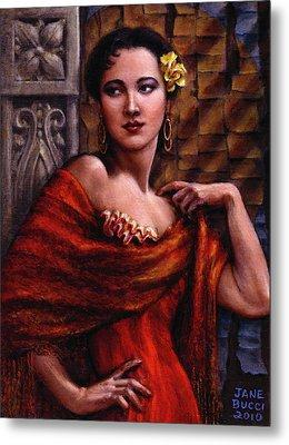 Amarillo Rose Metal Print by Jane Bucci