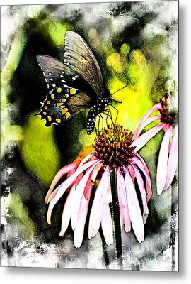 Amazing Butterfly Watercolor 2 Metal Print by Marty Koch