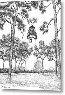 Amelia Island Lighthouse Metal Print by Lawrence Tripoli
