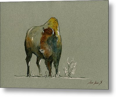 American Buffalo Metal Print by Juan  Bosco
