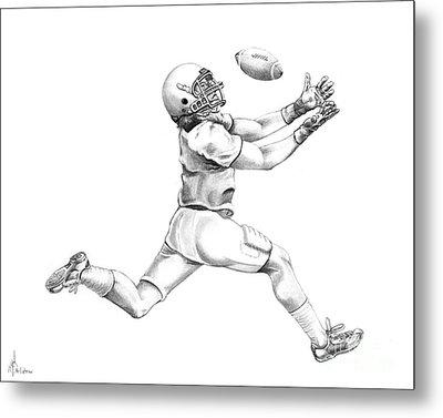 American Football Metal Print by Murphy Elliott