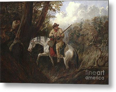American Frontier Life Metal Print by Arthur Fitzwilliam Tait