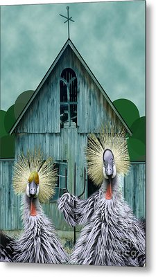 American Gothic Revisisted  Metal Print by Lois Mountz