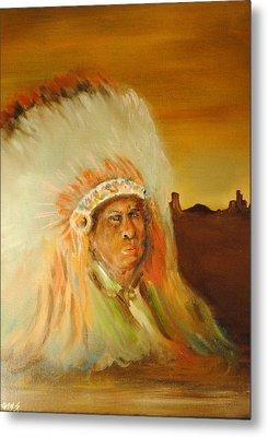 American Indian Metal Print by James Higgins