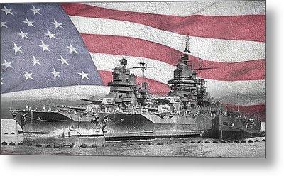 American Naval Power Metal Print