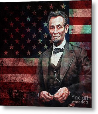American President Abraham Lincoln 01 Metal Print by Gull G