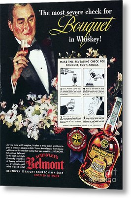 American Whiskey Ad, 1938 Metal Print by Granger