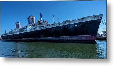 America's Flag Ship Metal Print by Marvin Spates