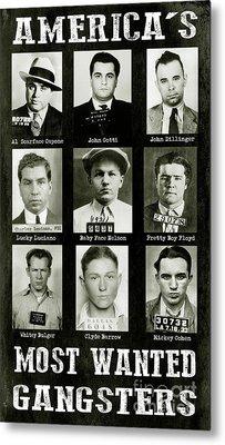 Americas Most Wanted Gangsters Metal Print