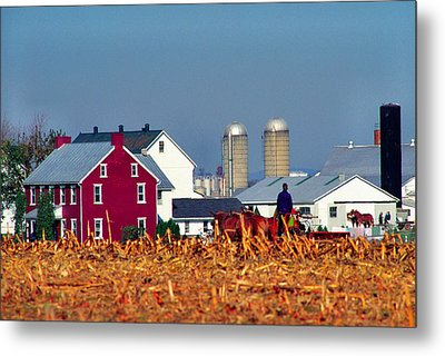 Amish Farm Metal Print by Thomas R Fletcher