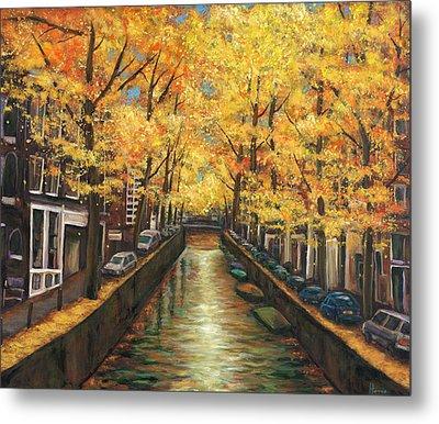 Amsterdam Autumn Metal Print by Johnathan Harris