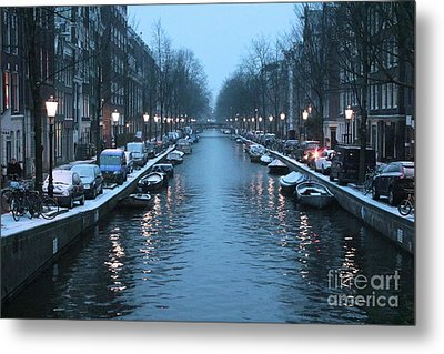 Amsterdam Winter Blues Metal Print