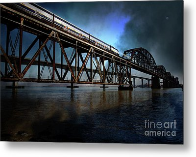 Amtrak Midnight Express 5d18829 Metal Print by Wingsdomain Art and Photography