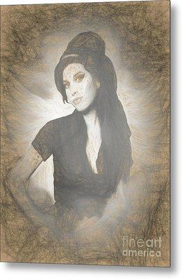Amy Winehouse Metal Print by Galambosi Tamas