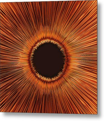 An Abstract Hole Metal Print by Sven Hagolani