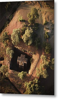 An Aerial View Of Beta Metal Print by James P. Blair