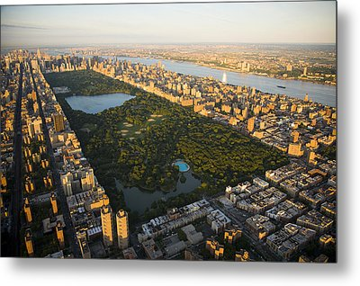 An Aerial View Of Central Park Metal Print by Michael S. Yamashita