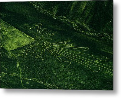 An Aerial View Of The Nazca Lines. They Metal Print by Bates Littlehales