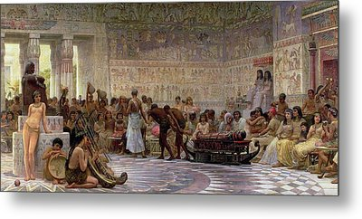 An Egyptian Feast Metal Print by Edwin Longsden Long