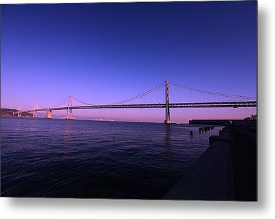 An Evening In San Francisco  Metal Print by Linda Edgecomb