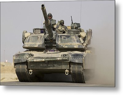 An M1a1 Abrams Tank Heading Metal Print by Stocktrek Images