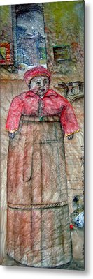 Metal Print featuring the painting Ancient Babysitter by Debbi Saccomanno Chan