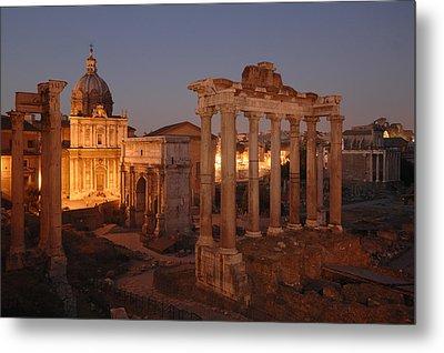 Ancient Romes Skyline At Sunset Metal Print by Kenneth Garrett