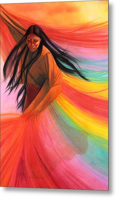 And So We Dance Metal Print by Maria Hathaway Spencer