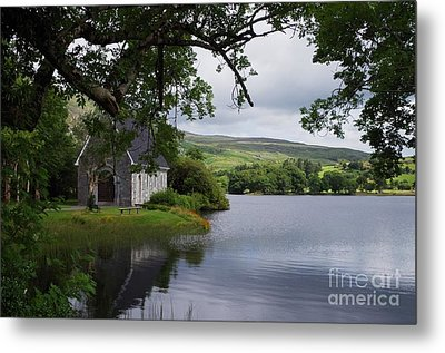 And The Land Was Very Broad, Quiet, And Peaceful Metal Print