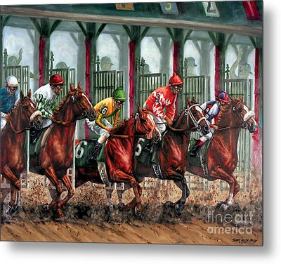 And They're Off Metal Print by Thomas Allen Pauly