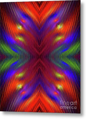 Metal Print featuring the digital art Andee Design Abstract 1 2015 by Andee Design