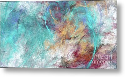 Metal Print featuring the digital art Andee Design Abstract 4 2015 by Andee Design