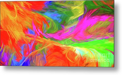 Metal Print featuring the digital art Andee Design Abstract 5 2015 by Andee Design