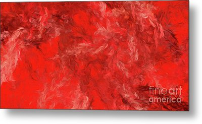 Metal Print featuring the digital art Andee Design Abstract 6 2015 by Andee Design