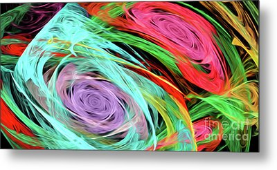 Metal Print featuring the digital art Andee Design Abstract 7 2015 by Andee Design