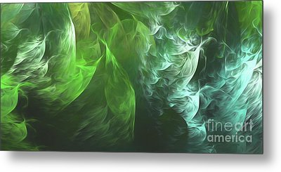Metal Print featuring the digital art Andee Design Abstract 72 2017 by Andee Design