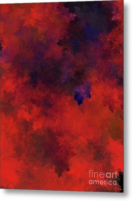 Metal Print featuring the digital art Andee Design Abstract 73 2017 by Andee Design