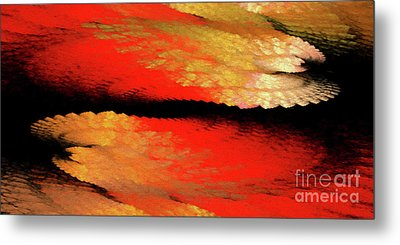 Metal Print featuring the digital art Andee Design Abstract 77 2017 by Andee Design
