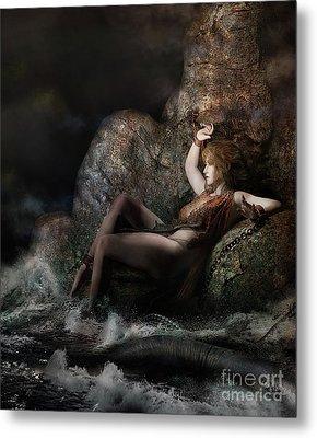 Metal Print featuring the digital art Andromeda by Shanina Conway