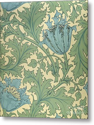 Anemone Design Metal Print by William Morris