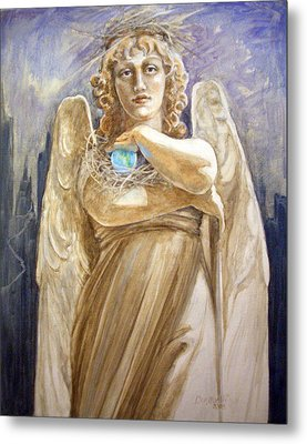 Angel Earth Metal Print by Kathryn Donatelli
