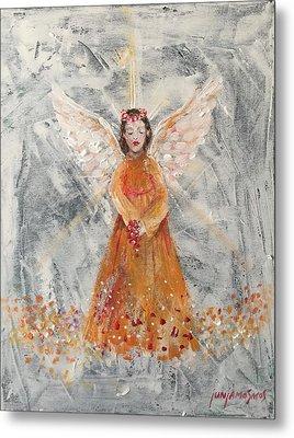 Angel In Orange Metal Print by Jun Jamosmos