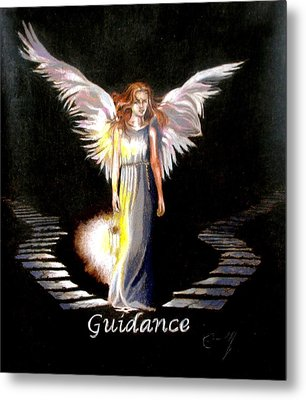 Angel Of Guidance Metal Print by Concept by Rev Kathleen L Dixon Artist Greg Crumbly