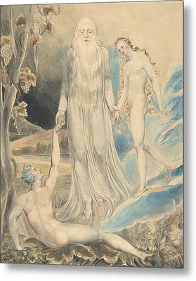 Angel Of The Divine Presence Bringing Eve To Adam Metal Print