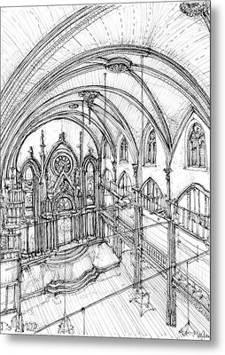 Angel Orensanz Sketch 3 Metal Print by Adendorff Design