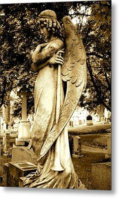 Angel With A Trumpet. Metal Print by Loretta Fasan