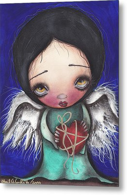 Angel With Heart Metal Print by  Abril Andrade Griffith