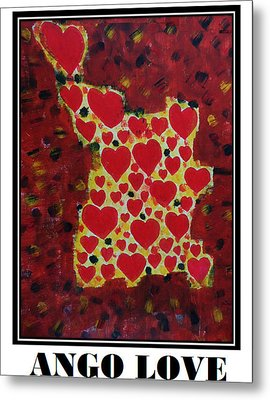 Ango Love Metal Print