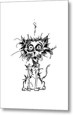 Angst Cat Metal Print by Nicholas Ely