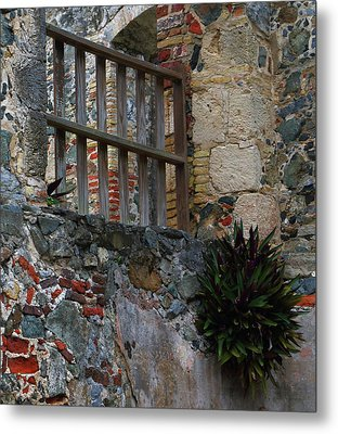 Metal Print featuring the photograph Annaberg Ruin Brickwork At U.s. Virgin Islands National Park by Jetson Nguyen